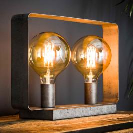 Tafellamp industrieel design dubbel