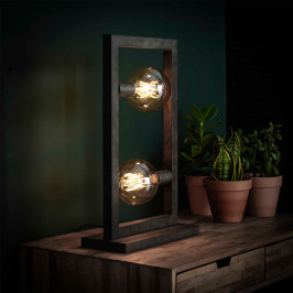 Tafellamp met rechthoekig frame
