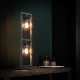 Toren tafellamp met glazen bollen