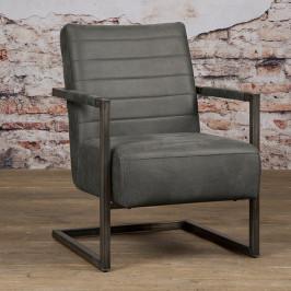 Stoere fauteuil industrieel