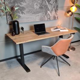 Verstelbaar bureau boomstam blad