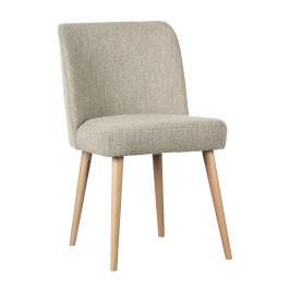 Boucle stoel met houten poot