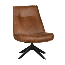 Draaibare fauteuil cognac bruin