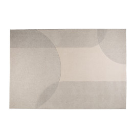 Retro vloerkleed grijs
