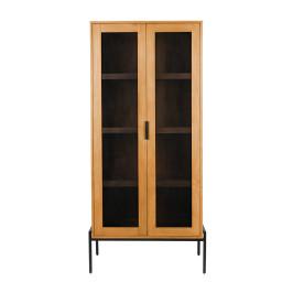 Moderne wandkast met gaas deuren