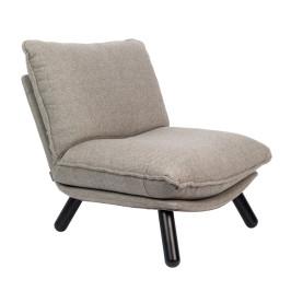 Lichtgrijze fauteuil van stof