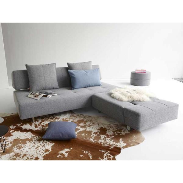 Slaapbank Lounge Grijs.Grijze Design Slaapbank Op Wielen Innovation Living Long Horn D E L