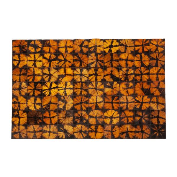 Vloerkleed Oranje Met Zwart Van Leer
