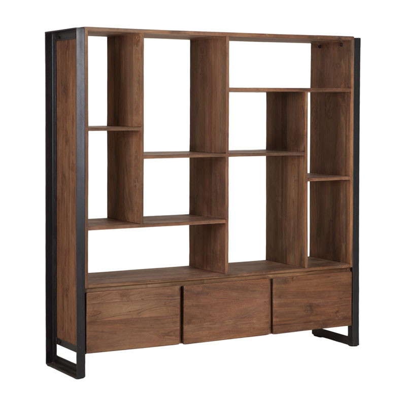 brede boekenkast van hout d bodhi fendy