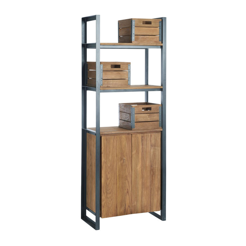 d-Bodhi Fendy | Industriele boekenkast van hout | Onlinedesignmeubel