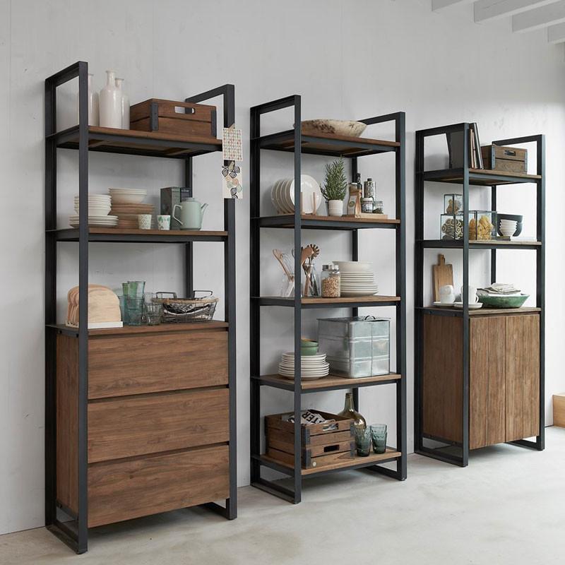 industriele boekenkast van hout d bodhi fendy
