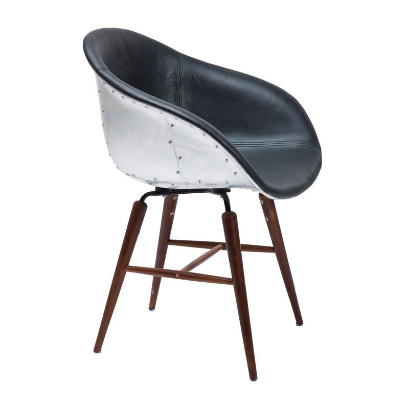 Zwarte kuipstoel in bauhaus stijl kare design forum soho for Bauhaus stoel vintage