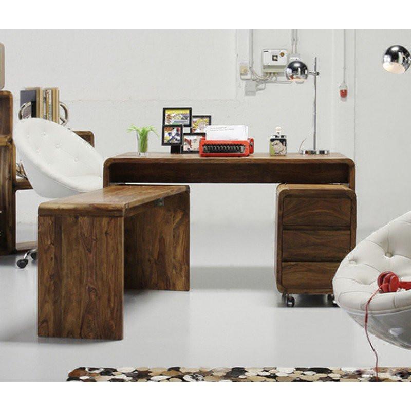houten bureau authentico club kopen. Black Bedroom Furniture Sets. Home Design Ideas
