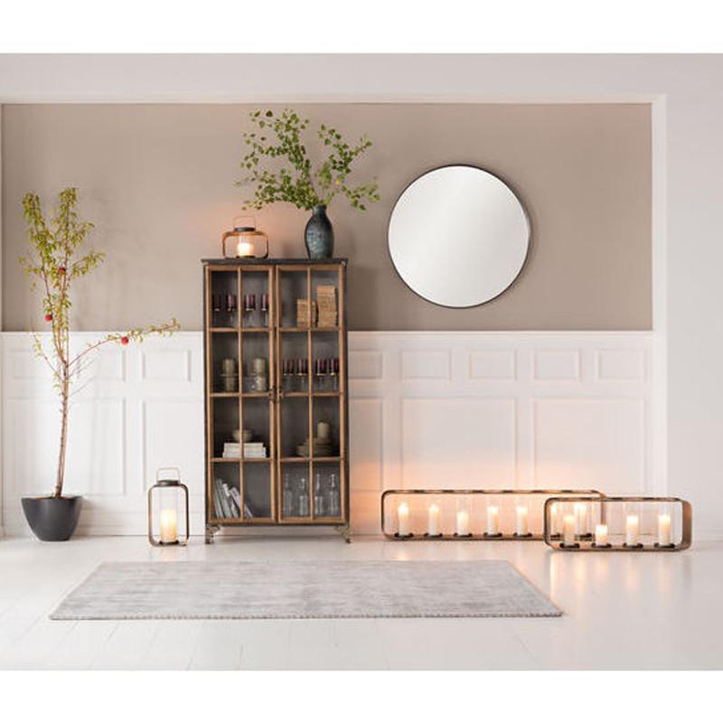 kare design curve ronde stalen design spiegel 100 cm lumz. Black Bedroom Furniture Sets. Home Design Ideas