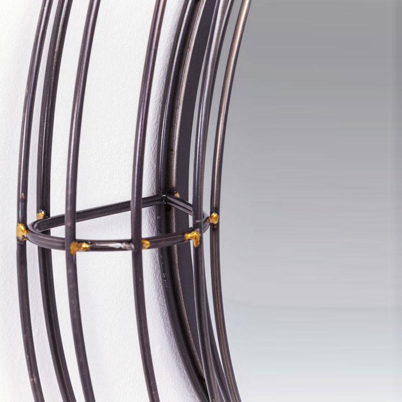kare design hacienda ronde metalen spiegel lumz. Black Bedroom Furniture Sets. Home Design Ideas