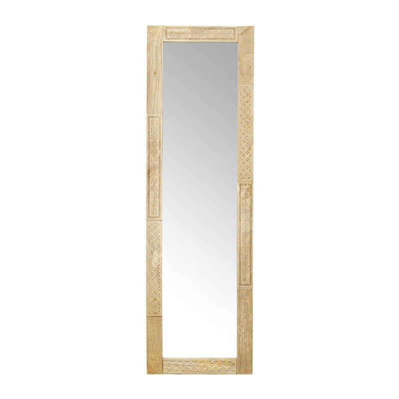 kare design puro spiegel met houten omlijsting lumz. Black Bedroom Furniture Sets. Home Design Ideas