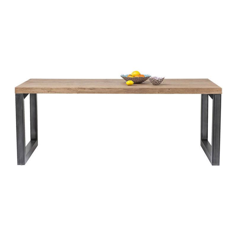 Kare design seattle houten industriele eettafel lumz for Houten eettafel design