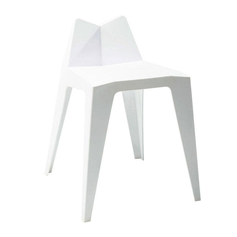 4 Witte Eetstoelen.Kare Design Triangle Set Van 4 Witte Stoelen Lumz