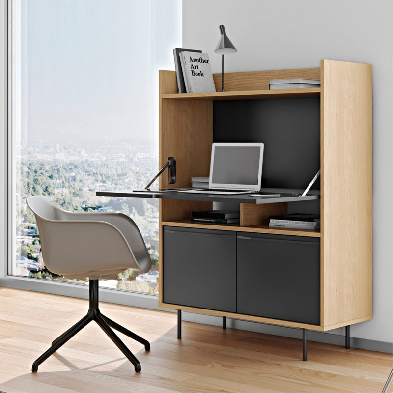 moderne secretaire zwart tundo preto. Black Bedroom Furniture Sets. Home Design Ideas