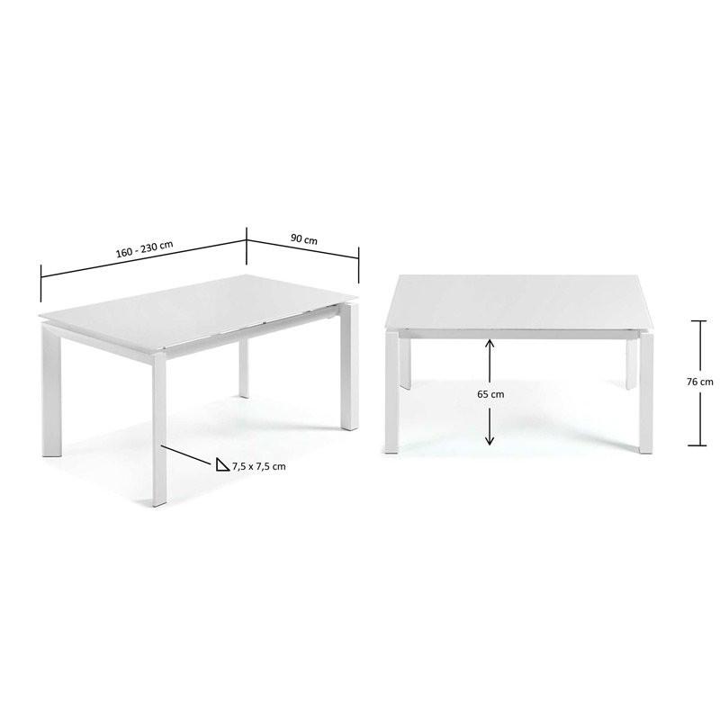 Uitschuifbare Eettafel 160 Cm.Uitschuifbare Eettafel Wit Laforma Atik Onlinedesignmeubel Be