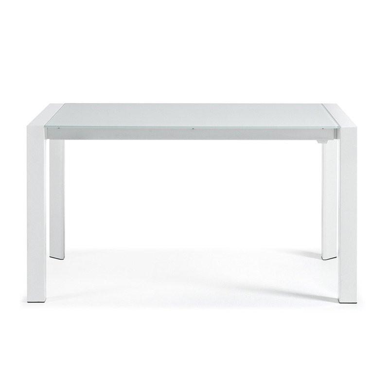 Witte Uitklapbare Tafel.Uitschuifbare Tafel Wit Glas Artek Onlinedesignmeubel Be