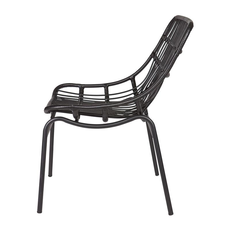 zwarte design lounge stoel bepure chat